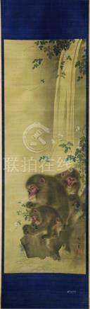 森祖仙 明治三十三年巴黎萬國博覽會出品作 仙猴圖
