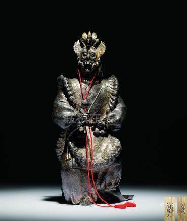 豐川光長造 純銀能人形