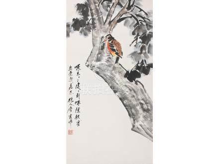 唐雲  啄木鳥