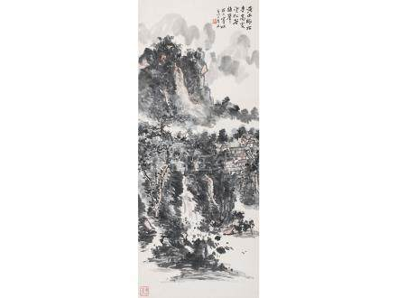 黃賓虹  黃山師林寺