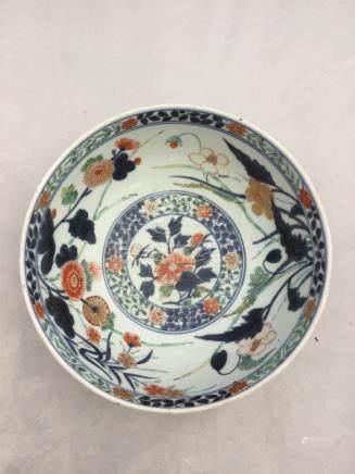A Japanese imari bowl, late 18th Century,