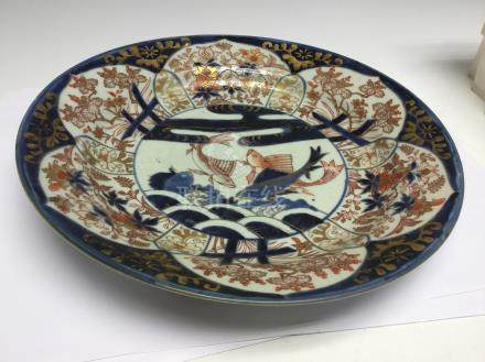 A Japanese imari charger, late 19th Century,