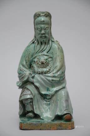 Chinese sculpture in porcelain 'Guandi' (*)
