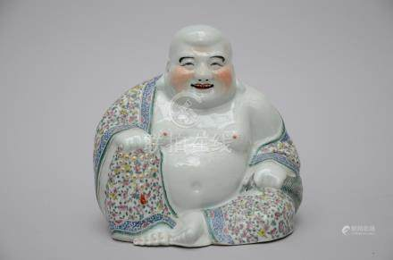Seated Buddha in Chinese porcelain, marked