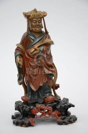 Chinese sculpture in polychromed wood 'official'