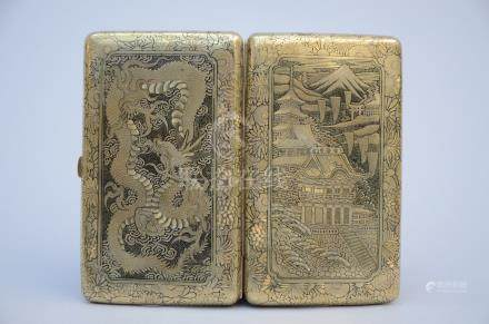 Japanese cigare case with gilt inlaywork, Komai style