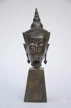 Thai buddha head in bronze