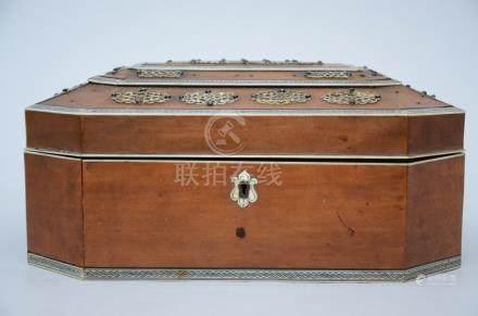 Indian sewing box with bone inlaywork