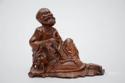 Chinese figurine in wood, 'wise man' China (*)