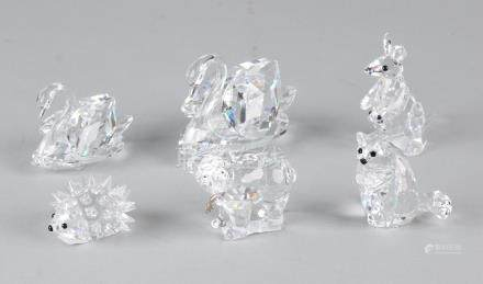 Six crystal Swarovski figurines. Among others with box.