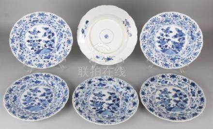 Six pieces of 17th - 18th century Chinese porcelain