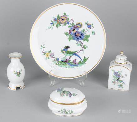 Four parts of German Meissen porcelain. Second half of