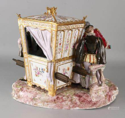 Kapital German Thuringia porcelain sculpture group with