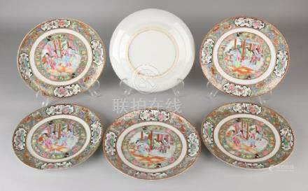 Six 18th century Chinese porcelain Family Rose signs