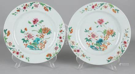 Two beautiful 18th century Chinese porcelain Family