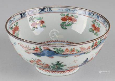 18th Century Chinese porcelain bowl with Amsterdam fur