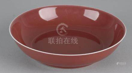 Ancient Chinese porcelain Sang du Boeuf deep dish with