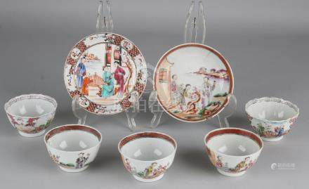 Seven times 18th century Chinese porcelain. Consisting