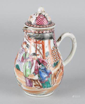 18th Century Chinese porcelain lid jug with Amsterdam