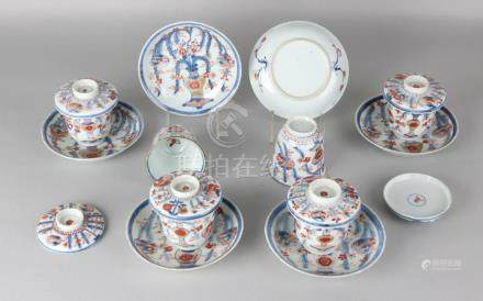 Six times 18th century Chinese Imari porcelain cup and