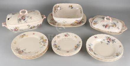 Antique German Villeroy and Boch Mettlach service with