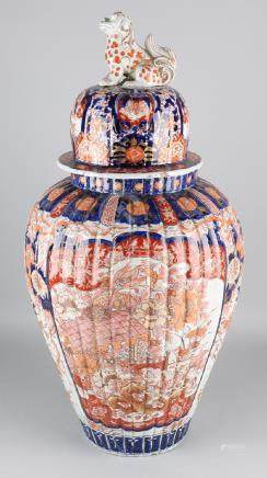 Large 19th century Japanese Imari porcelain covered