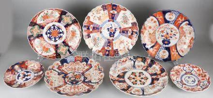 Seven times 19th century Japanese Imari porcelain