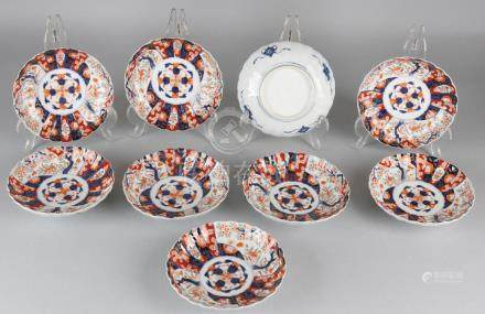 Nine times 19th century Japanese Imari porcelain