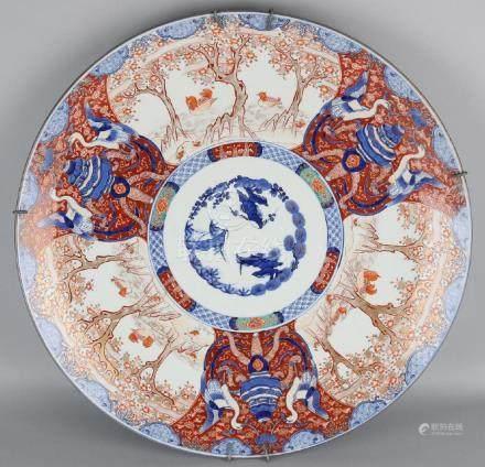 Outside just large 19th century Imari porcelain dish