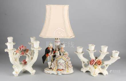 Three times East German porcelain. Consisting of: Two