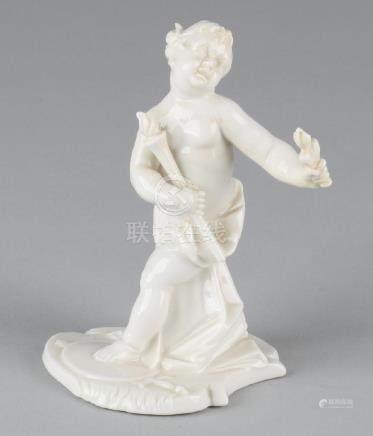 Antique German Nymphenburg porcelain figure. Putti with