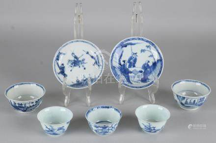 Lot of 18th - 19th century Chinese porcelain tableware.