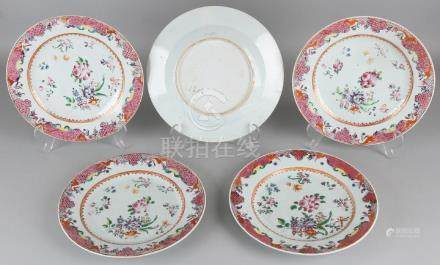 Five beautiful 18th century Chinese porcelain Family