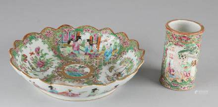 Twice 19th century Chinese Cantonese Family Rose