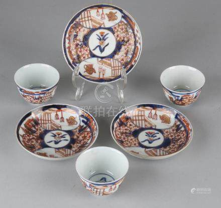 Three times 18th century Chinese Imari porcelain cup