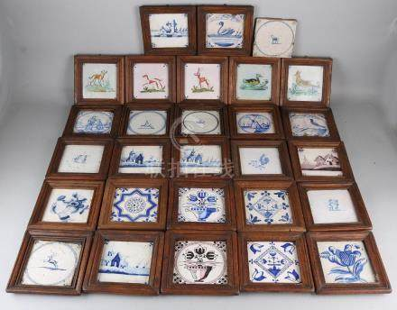 Lot of various Dutch wall tiles in list. Number: 27