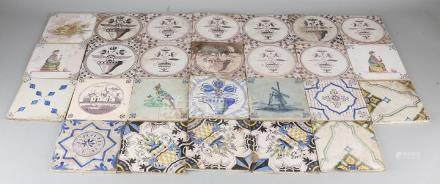 Large lot of antique 19th century wall tiles,