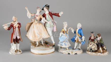 Four German porcelain figures. 20th century. Consisting