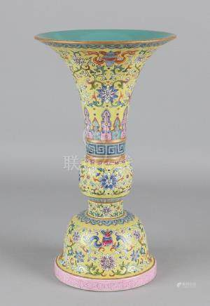 Old Chinese porcelain Family Rose vase, two-piece. With