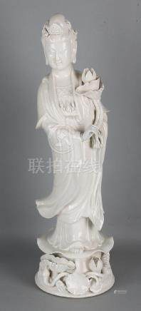 Large old Chinese porcelain Blanc de Chine Quan Yin on