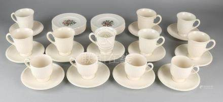 Twelve English Wedgwood cups and saucers + twelve small