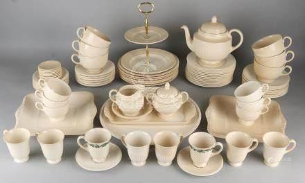 Old Wedgwood ceramic dishes. 20th century. Dishwasher