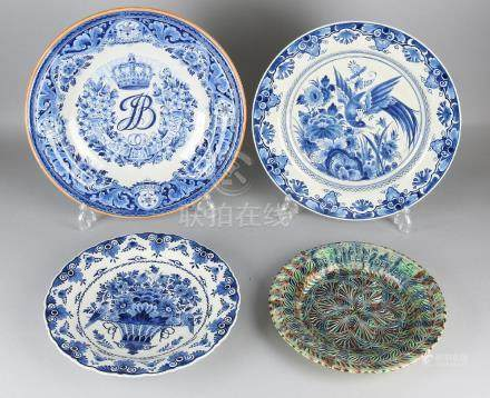 Four times various old / antique Dutch style dishes.