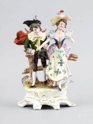 East German Sitzendorf porcelain figure. Elegant