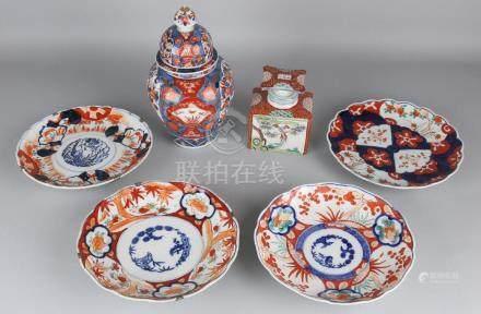 Six times antique Japanese Imari porcelain. 19th