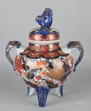 19th Century Japanese Imari porcelain incense burner