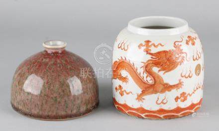 Two old Chinese porcelain vases. Consisting of: Once