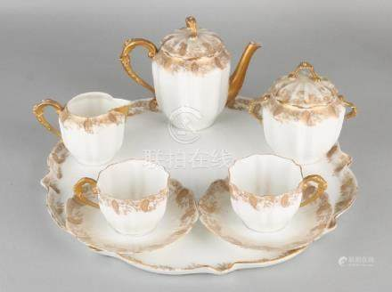 Beautiful 19th century porcelain tete a tete tea set.