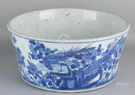 Very large old Chinese porcelain dish with round
