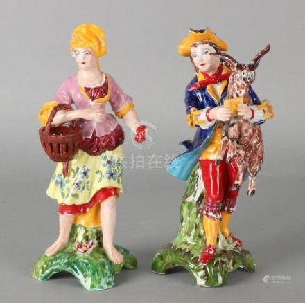Two old German Sitzendorf porcelain figures.